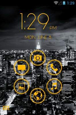 android theme 'Stamped Yellow'