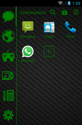 Stamped Green android theme