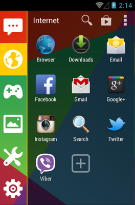 Hexagon android theme application menu