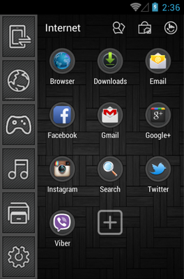 Touch android theme application menu