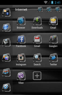 Lithe android theme application menu