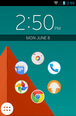 android theme 'Lollipop'