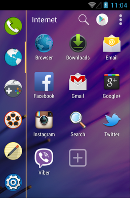 M8 android theme application menu