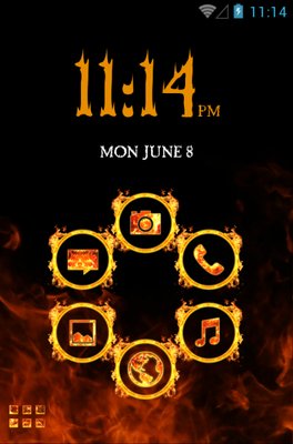 android theme 'FIRE'