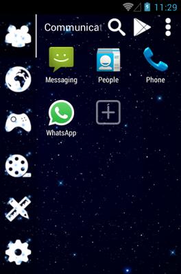 GALAXY android theme application menu
