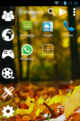 AUTUMN android theme application menu