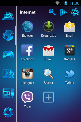 GSL ODYSEE android theme application menu