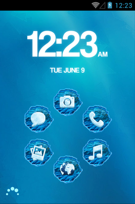 android theme 'FROZEN'