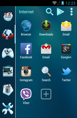 FROZEN android theme application menu