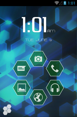Senary android theme home screen