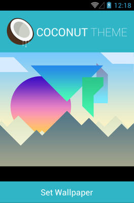 Coconut android theme wallpaper