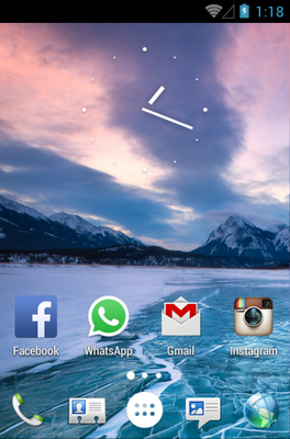 Sense android theme home screen
