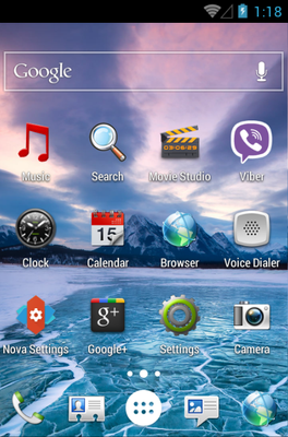 Sense android theme application menu