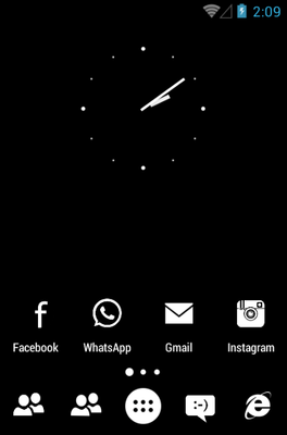 MNML WHITE android theme home screen