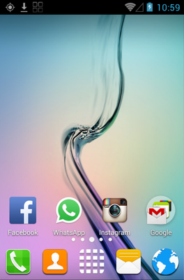 S6 android theme home screen