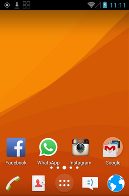 Z4 android theme home screen