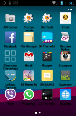G4 android theme application menu