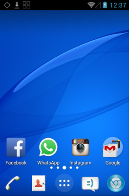 Z3  android theme home screen