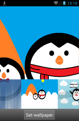Penguin android theme wallpaper