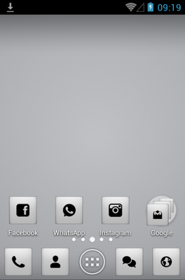 android theme 'Monochrome'
