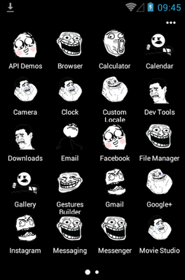 Meme Rage Face android theme application menu