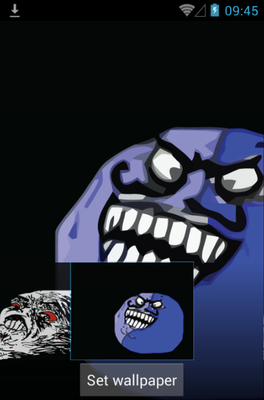 Meme Rage Face android theme wallpaper