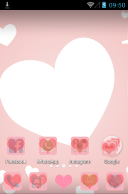 Love Pink android theme home screen