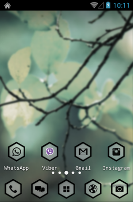 HexaPulse android theme home screen