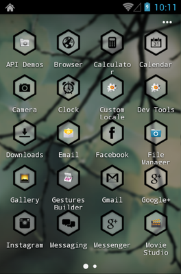 HexaPulse android theme application menu