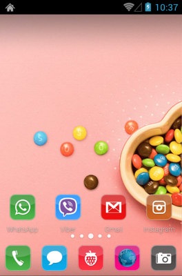 Candy android theme home screen