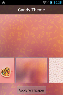 Candy android theme wallpaper