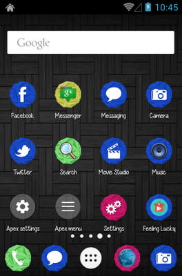 Beautiful Dark android theme home screen