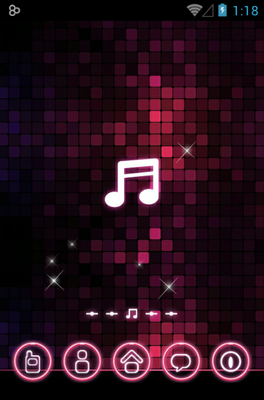 Pink Music android theme