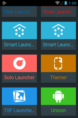 Rondo android theme launcher menu