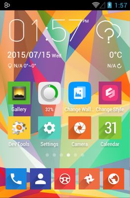 Voxel android theme home screen