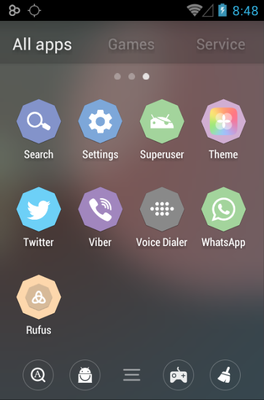 Rufus android theme application menu