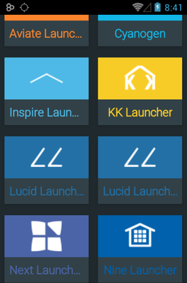 Rufus android theme launcher menu