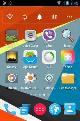 Axiom android theme home screen