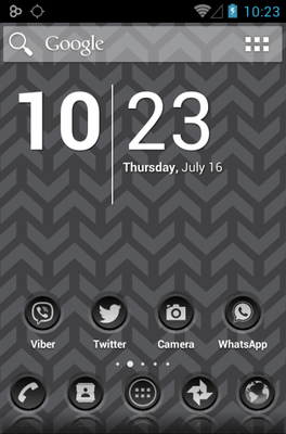 android theme '3K SR BLACK'
