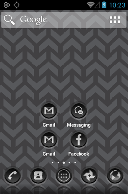 3K SR BLACK android theme home screen
