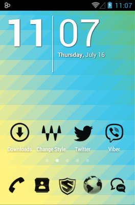 3K MNML Black android theme home screen