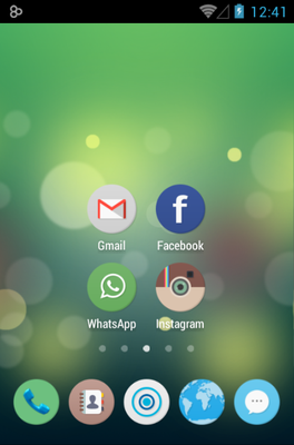 Numix Circle android theme home screen