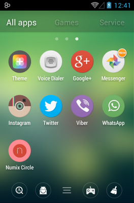 Numix Circle android theme application menu