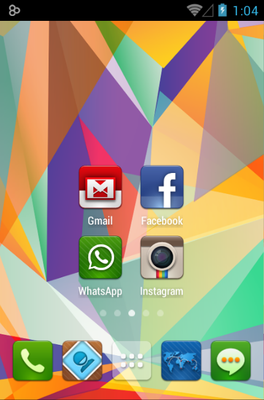 Luxx android theme home screen