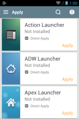 Luxx android theme launcher menu