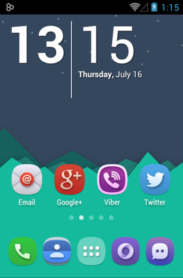 Belle UI android theme