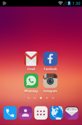 Adastra android theme home screen