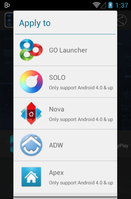 Comb android theme launcher menu