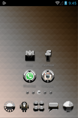 Magic android theme home screen