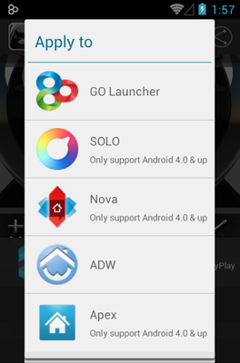 Magic android theme launcher menu